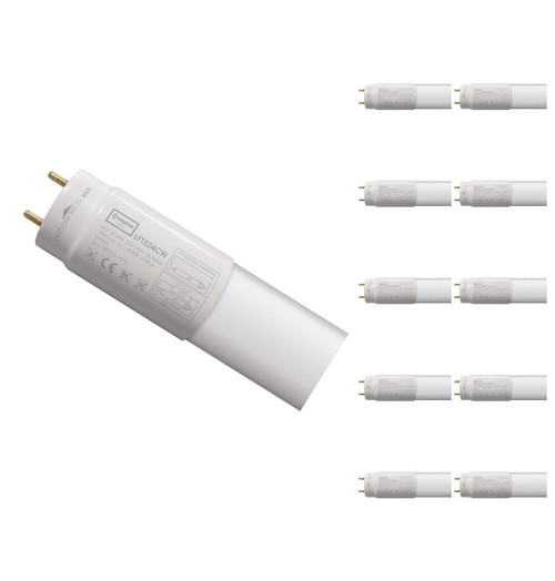 Crompton Lamps LED 5ft T8 Tube 24W (10 Pack) Cool White Image 1