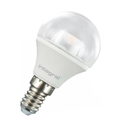 Integral LED Golfball 3.8W E14 Warm White Clear 74-08-54 Image 1