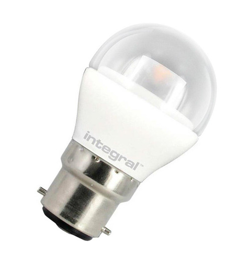 Integral LED Golfball 3.8W B22 Warm White Clear 70-19-98 Image 1