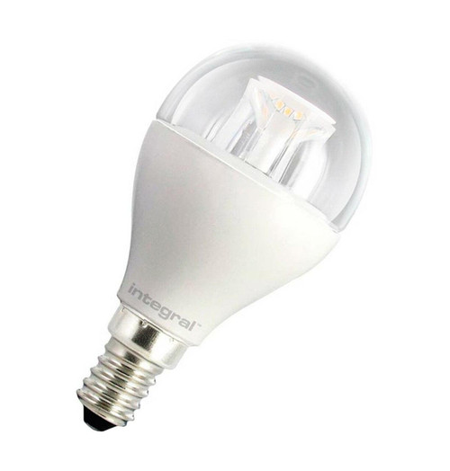 Integral LED Golfball 6W E14 Warm White Clear 34-05-6 Image 1