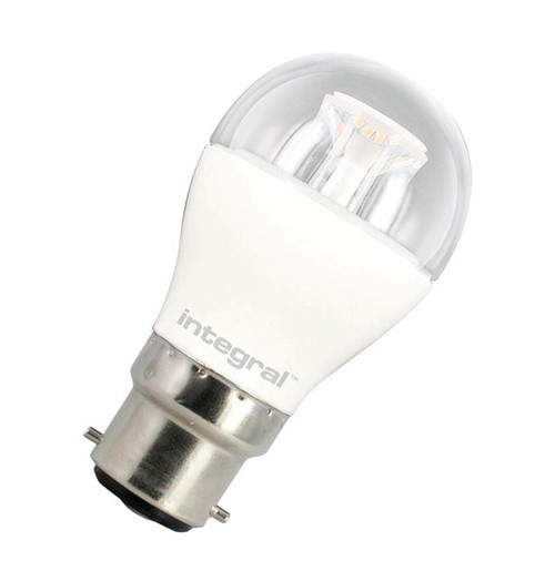 Integral LED Golfball 6W B22 Warm White Clear 94-92-10 Image 1