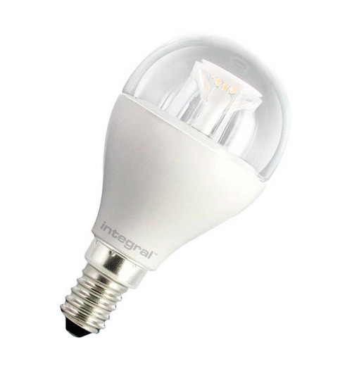 Integral LED Golfball 6.5W E14 Dimmable Warm White Clear 31-00-34 Image 1