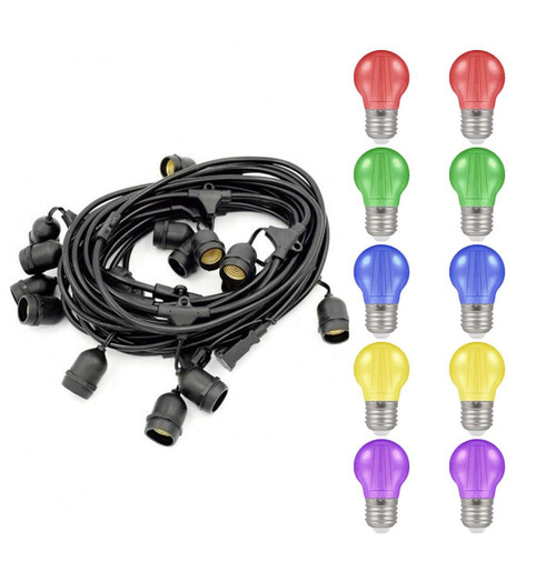 Premium 6.5m Connectible IP65 Weatherproof Festoon E27 6096 Image 1
