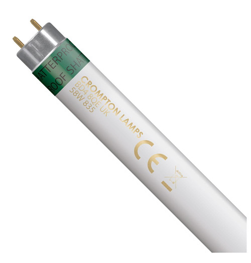 Crompton Lamps Fluorescent 5ft T8 Tube 58W Triphosphor Shatterproof White Image 1