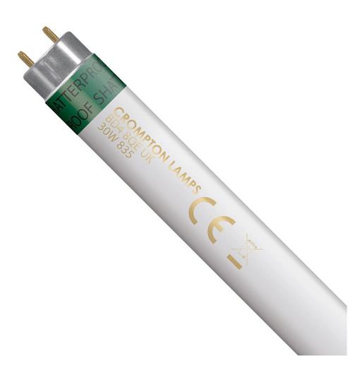 Crompton Lamps Fluorescent 3ft T8 Tube 30W Triphosphor Shatterproof White Image 1