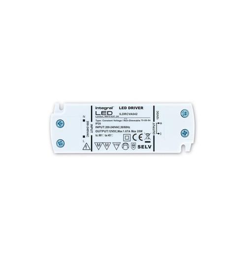 Integral LED 12V Constant Voltage Driver 20W Image 1