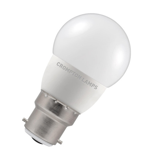 Crompton Lamps LED Golfball 5.5W B22 Cool White (40W Eqv)
