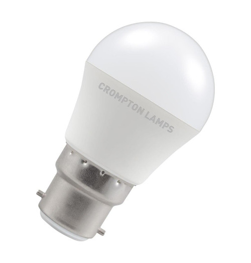 Crompton Lamps LED Golfball 5W B22 Dimmable Warm White Opal (40W Eqv) Image 1