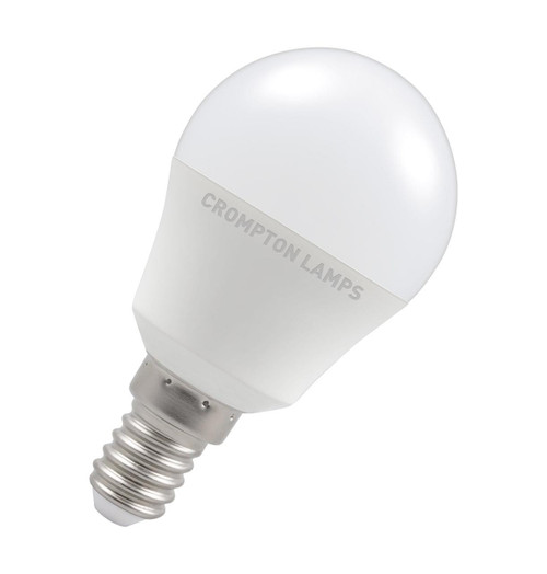 Crompton Lamps LED Golfball 5W E14 Dimmable Cool White Opal (40W Eqv) Image 1