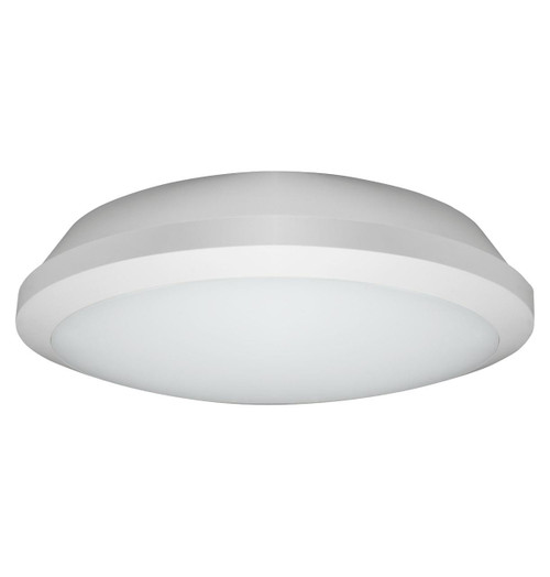 Phoebe LED Bulkhead 15W Microwave Sensor and 3-Hour Emergency Tri-Colour CCT 120° Diffused Image 1