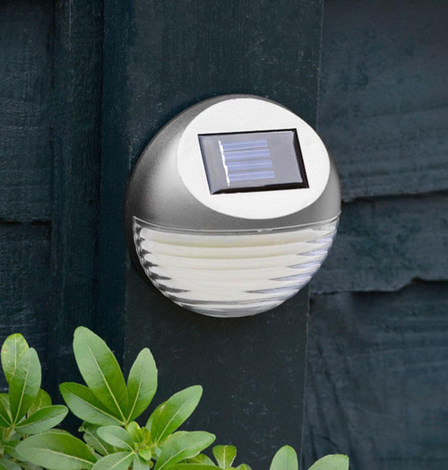 Solalite LED Solar Fence Light (2 Pack) Silver Image 1