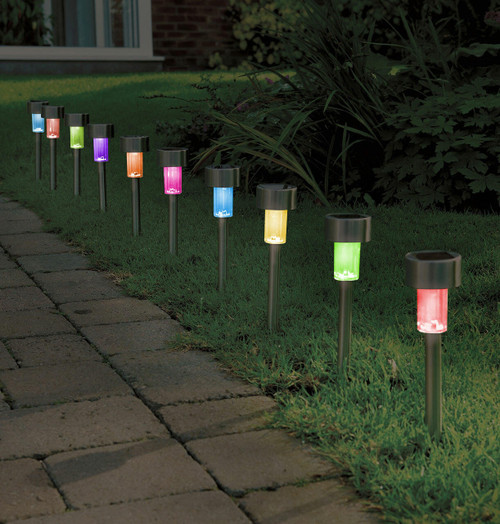 Solalite LED Solar Stick Light Colour Changing (10 Pack) Image 1