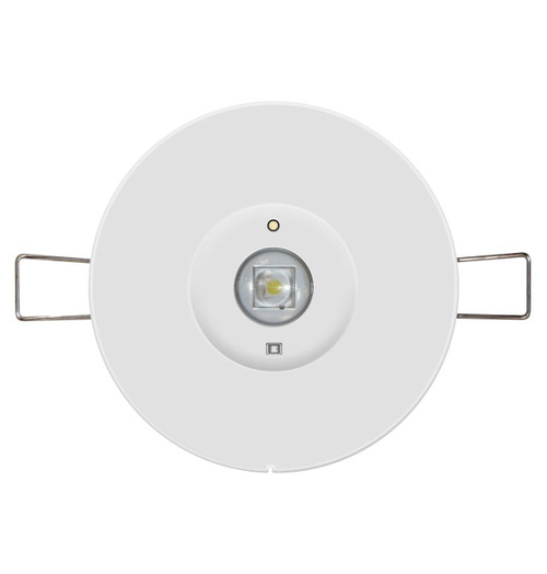 Phoebe LED Emergency Recessed Spot 1W Krios Round Lens Image 1