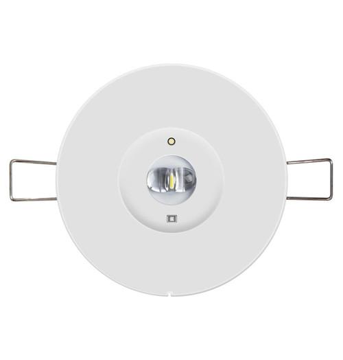 Phoebe LED Emergency Recessed Spot 1W Krios Corridor Lens Kit Image 1