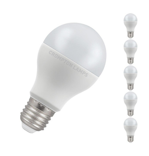 Crompton Lamps LED GLS 14W E27 Dimmable (5 Pack) Warm White Opal (100W Eqv) Image 1