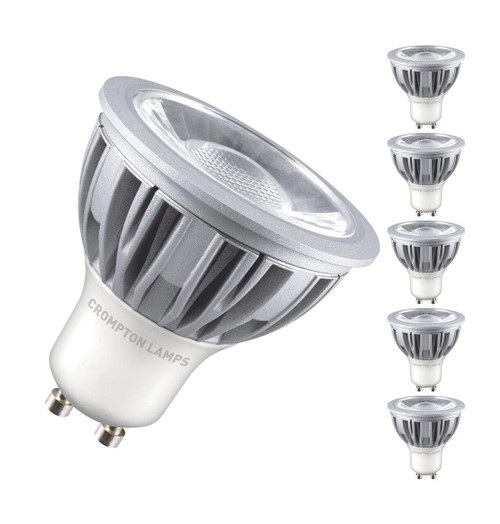 Crompton LED GU10 5W Dim (5 Pack) 3000K LGU105WWCOB-DIM Image 1