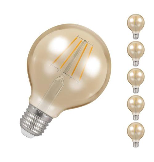 Crompton LED Globe E27 5W Dim 2200K Antique 4276 Image 1