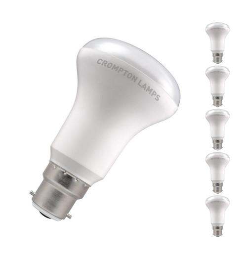 Crompton LED R63/R64 Reflector B22 6W (5 Pack) 2700K 7307 Image 1