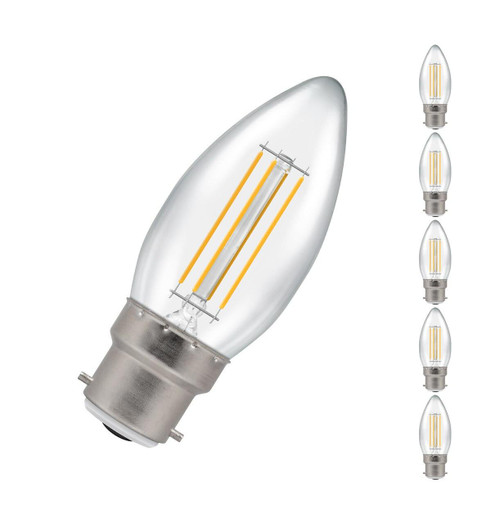 Crompton LED Candle B22 5W Dim (5 Pack) 2700K 7130 Image 1