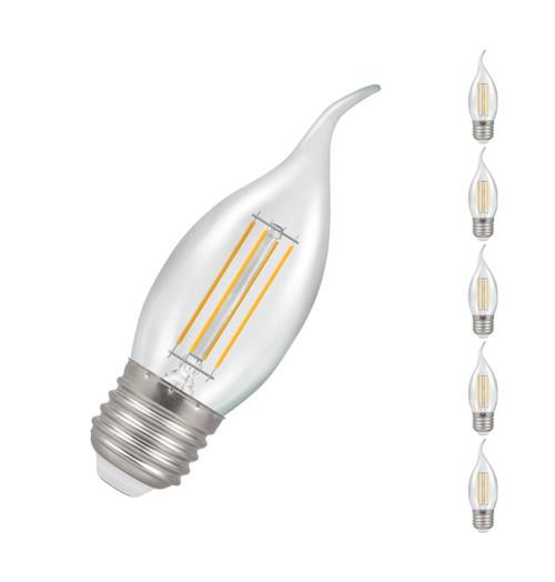 Crompton LED Bent Tip Candle E27 5W Dim 2700K 12158 Image 1