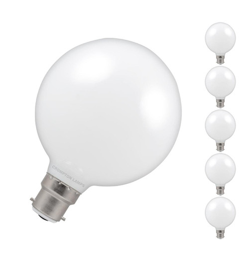 Crompton LED Globe 95mm Dimmable 7w BC opal Image 1