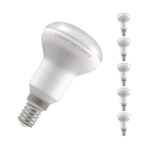 Crompton Lamps LED 6W R50 Reflector E14 Warm White 110° Opal Image 1
