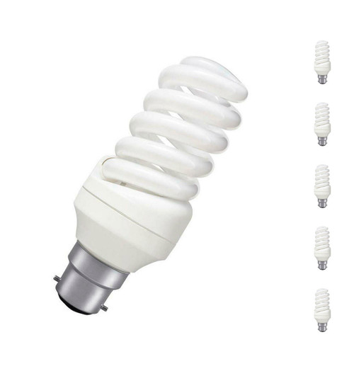 Prolite CFL Helix Spiral 30W B22 (5 Pack) Daylight Frosted