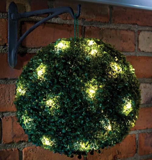 Solalite LED Solar Topiary Ball Green 28cm Image 1