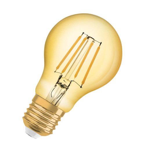 Osram LED Filament GLS 4W E27 Vintage 1906 Extra Warm White Gold Image 1