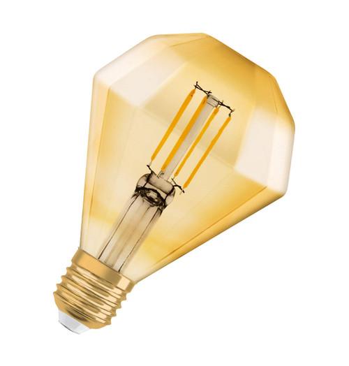 Osram LED Filament Diamond 4.5W E27 Vintage 1906 Warm White Gold Image 1