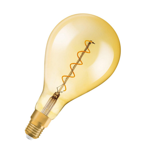 Osram LED Filament Giant GLS 5W E27 Dimmable Vintage 1906 Extra Warm White Gold Image 2