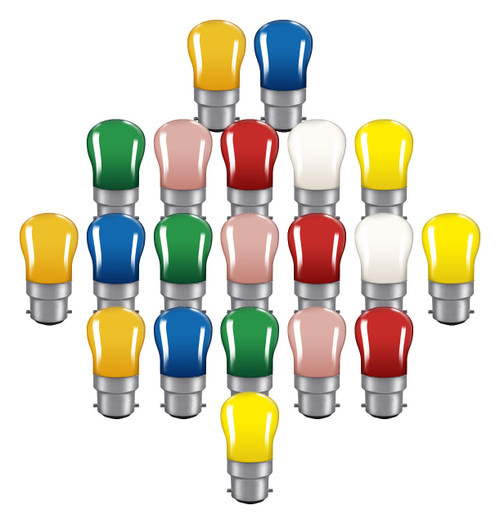 Crompton Lamps 15W Festoon Pygmy B22 Dimmable (20 Pack) Mixed