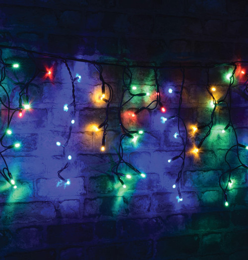 Lyyt 2m 100 Multicoloured LED Connectable Outdoor Icicle Lights Image 1