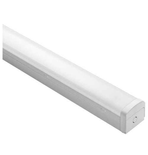 Phoebe LED 5ft Batten 30W Microwave Sensor and 3-Hour Emergency Tri-Colour CCT 120° Diffused