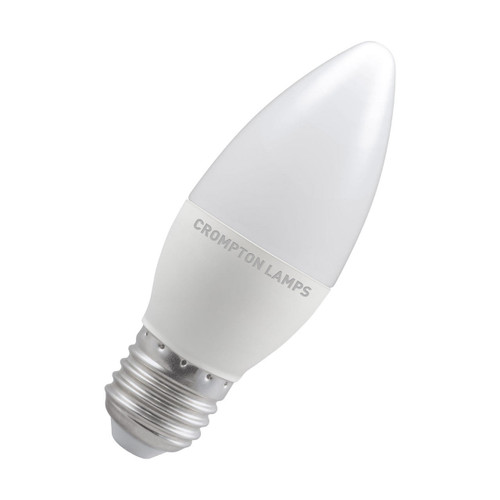 Crompton Lamps LED Candle 5W E27 Dimmable Warm White Opal (40W Eqv)