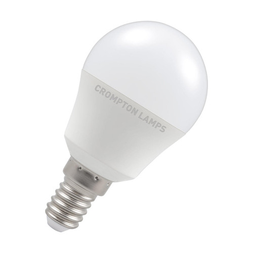 Crompton Lamps LED Golfball 5W E14 Dimmable Warm White Opal