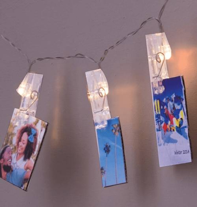 Lyyt LED Battery Operated Photo Clip String Light Christmas Cards Display Extra Warm White