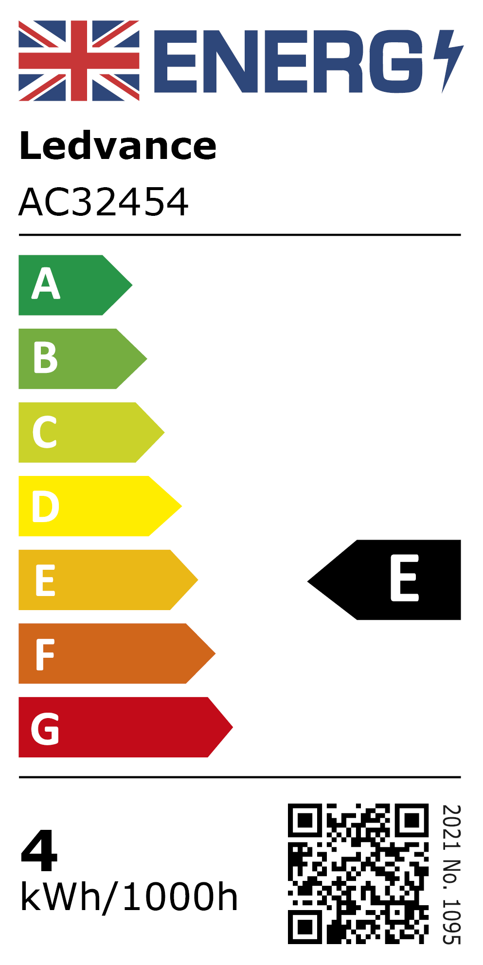 New 2021 Energy Rating Label: MPN AC32454