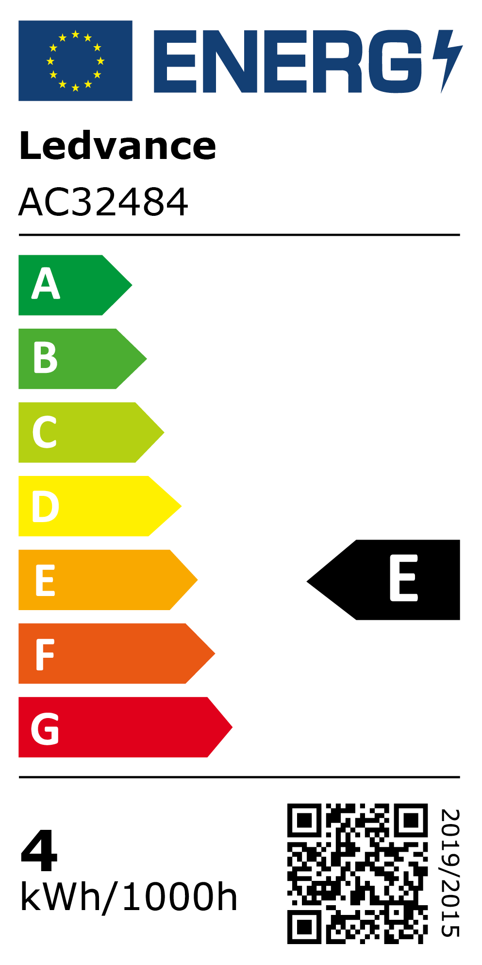 New 2021 Energy Rating Label: MPN AC32484