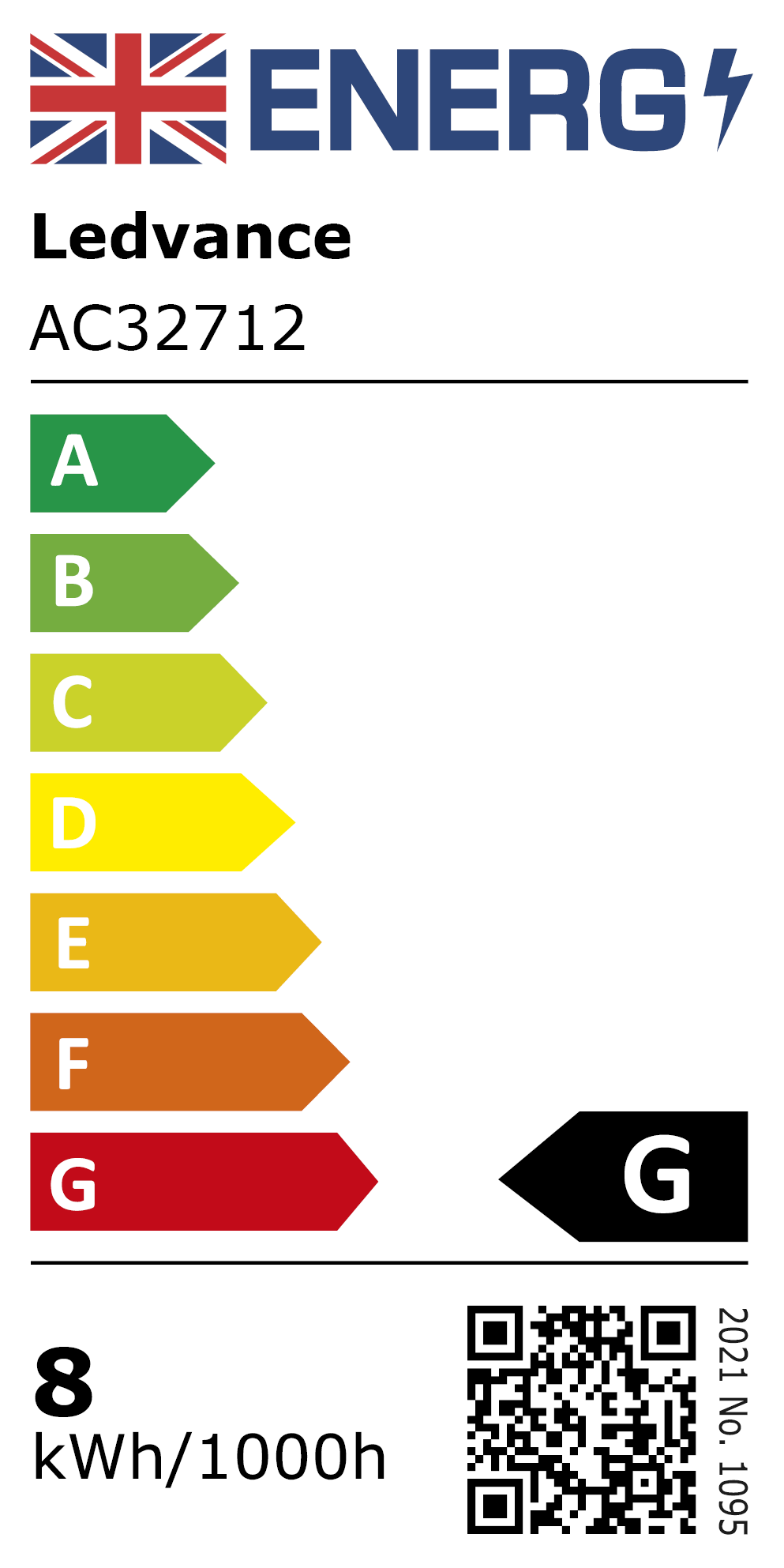 New 2021 Energy Rating Label: MPN AC32712