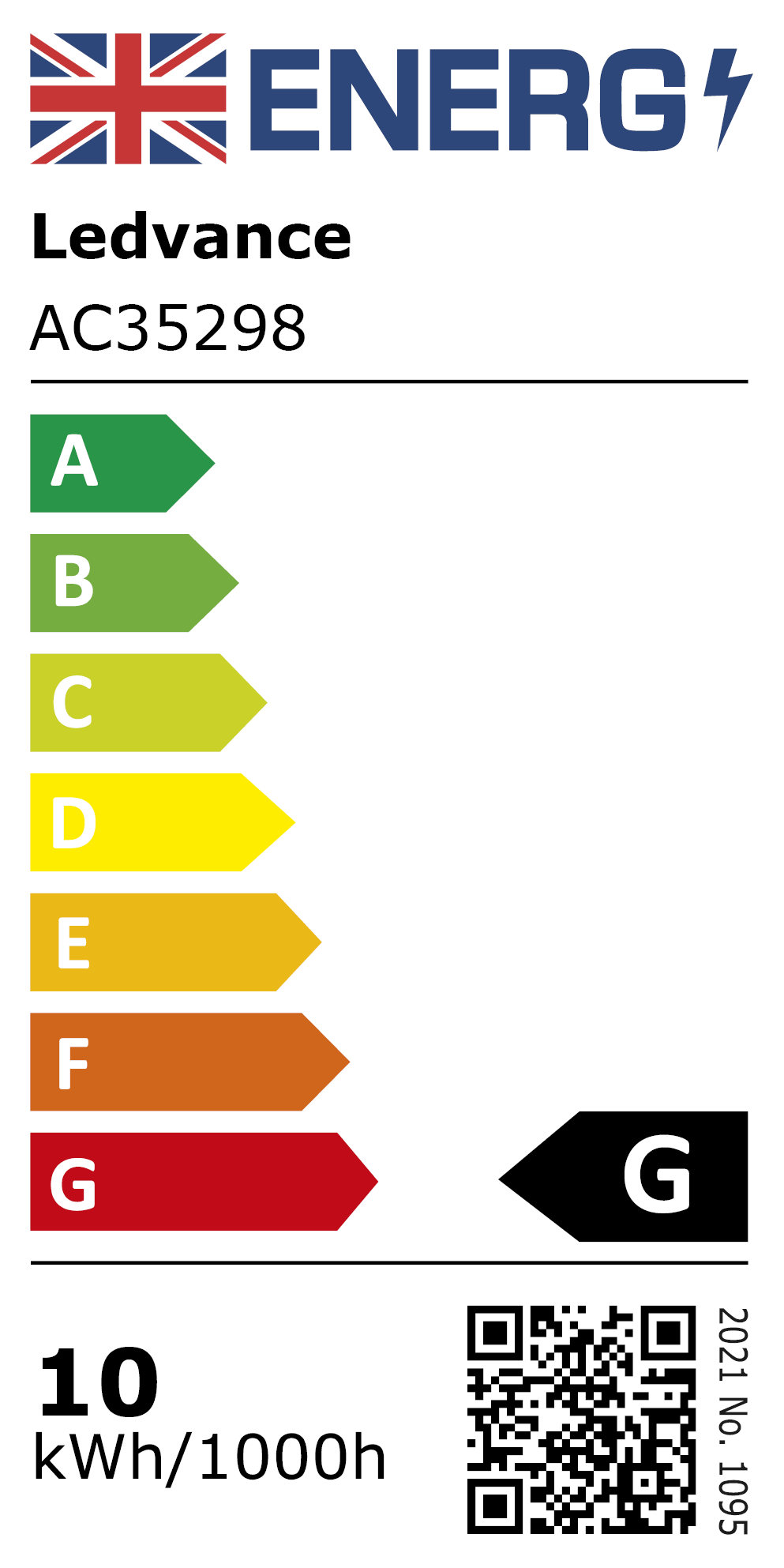 New 2021 Energy Rating Label: MPN AC35298
