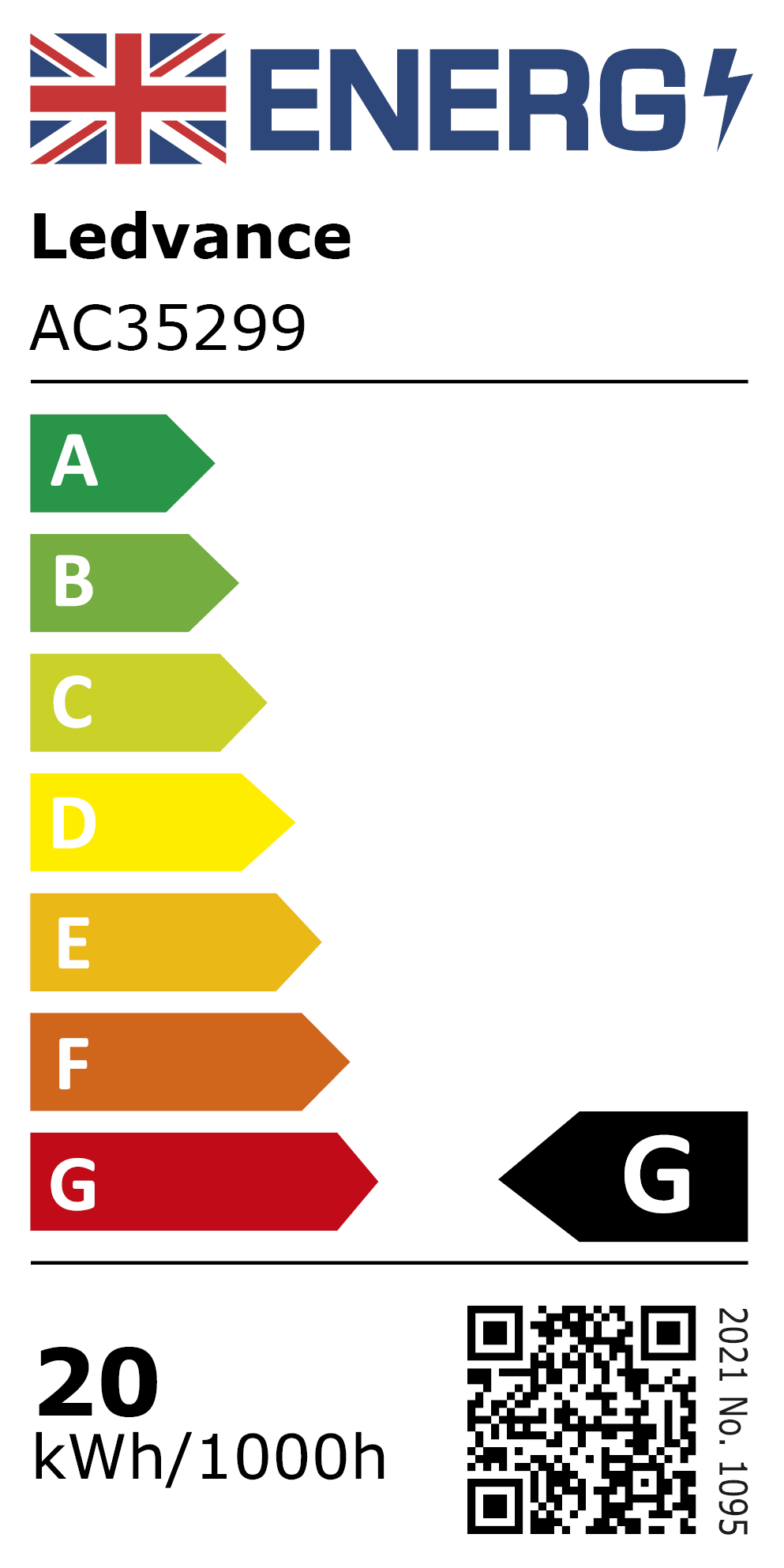 New 2021 Energy Rating Label: MPN AC35299