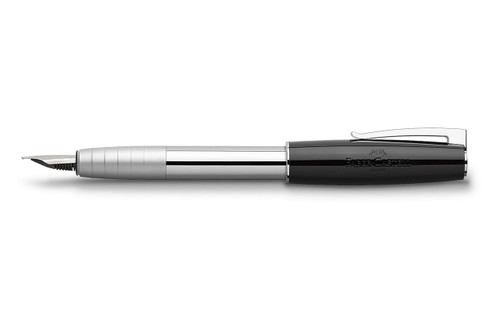 Faber-Castell LOOM Piano Black Fountain Pen with cap posted