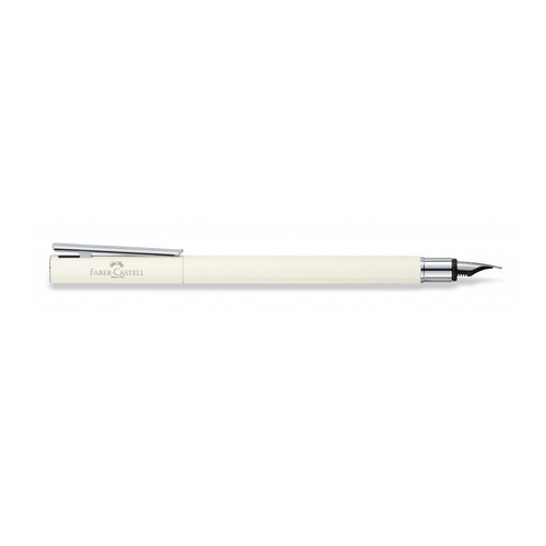 faber-castell-neo-slim-Ivory-Shiny-chrome-Fountain-pen-2