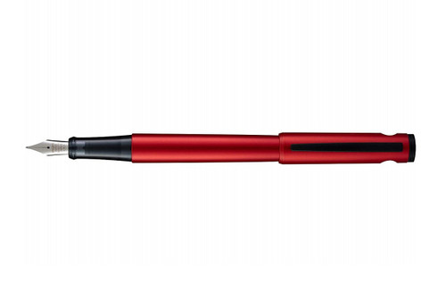 Pilot Explorer Red Fountain Pen with cap posted