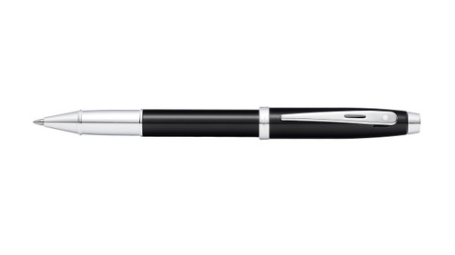 sheaffer-100-glossy-black-lacquer-rollerball-pen-cap-posted