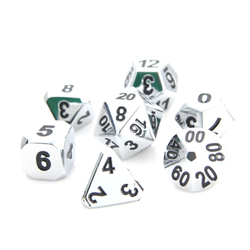 Forge Dice - Shiny Silver Black