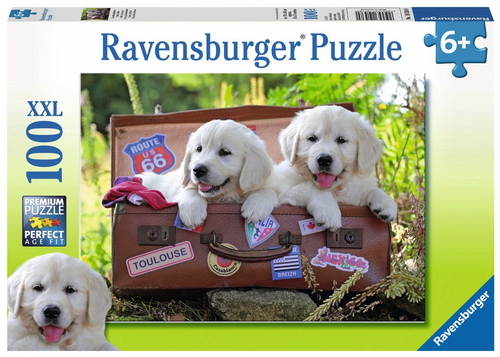 Traveling Pups 100pc Puzzle