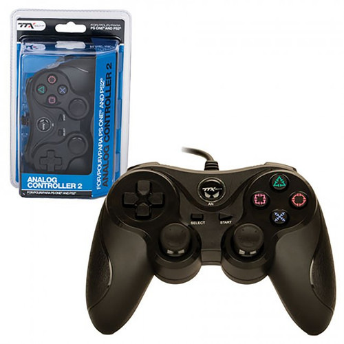 PS1/PS2 Wired Controller Black