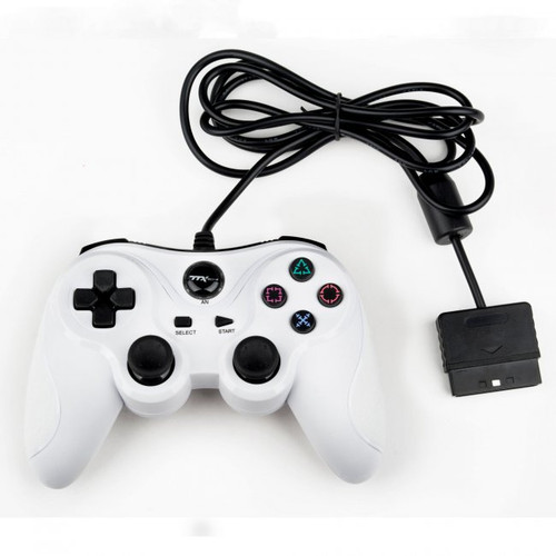 PS1/PS2 Wired Controller White